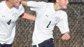 Massapequa's Hope Breslin celebrates her goal with Sara