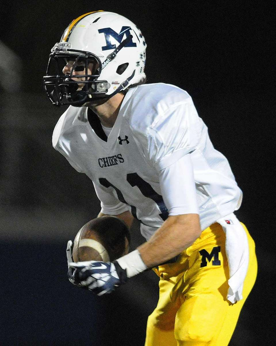 Massapequa kick returner Craig Berge takes back the