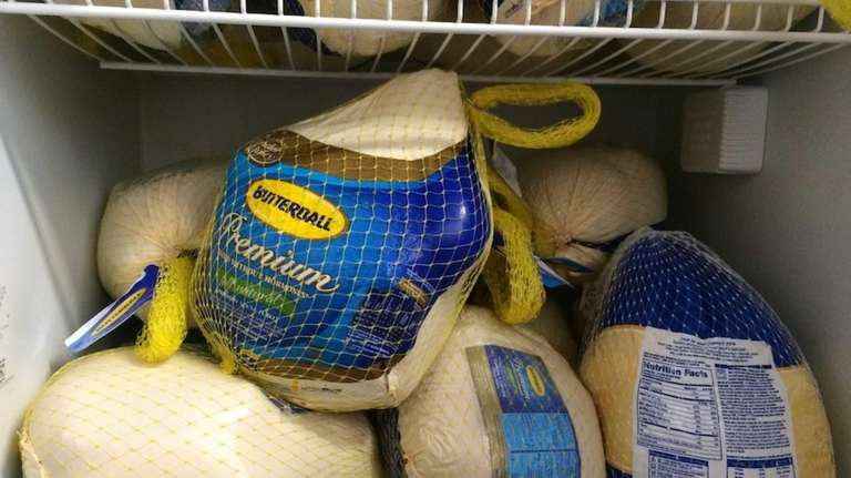 Forty frozen turkeys were donated to Boots on
