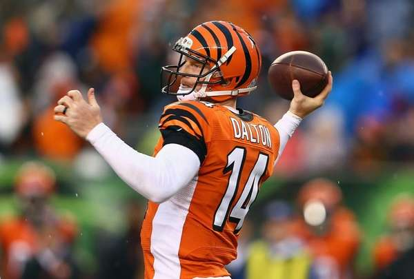 Cincinnati Bengals quarterback Andy Dalton attempts a pass