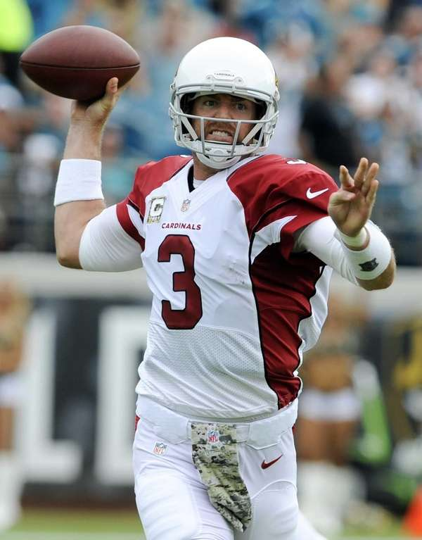 Arizona Cardinals quarterback Carson Palmer against the Jacksonville
