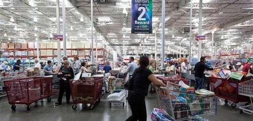 The Costco shopping floor on Oct. 6, 2009.
