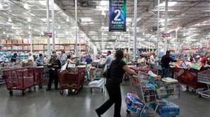 A Costco shopping floor on Oct. 6, 2009.