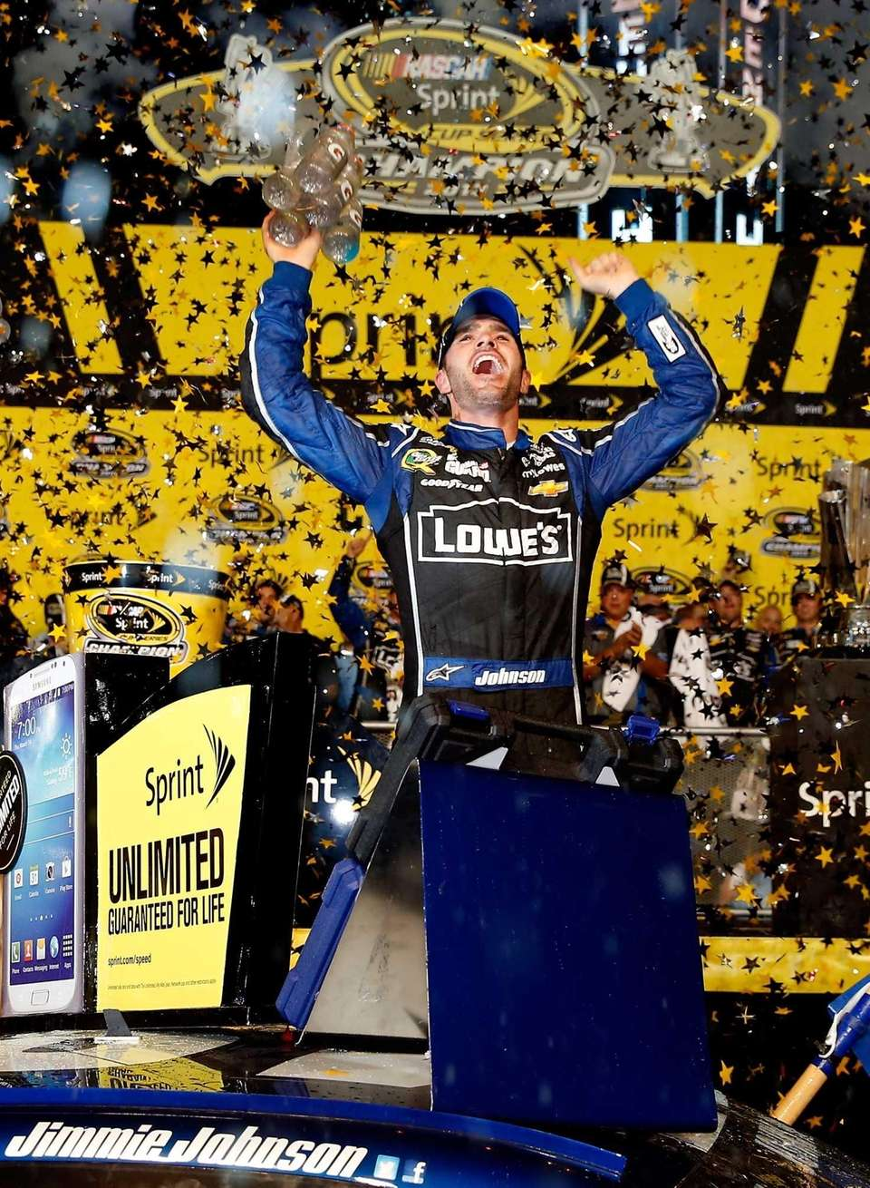 Jimmie Johnson, driver of the #48 Lowe's/Kobalt Tools