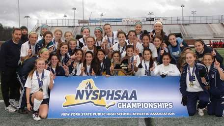 Massapequa poses for a championship team photo after
