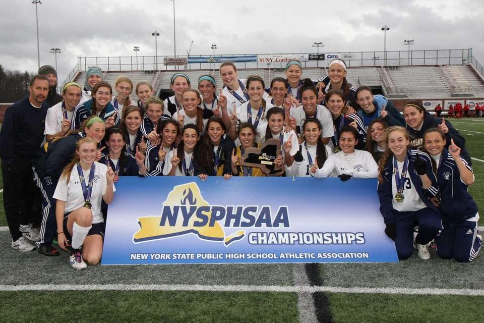 Massapequa poses for their championship team photo after
