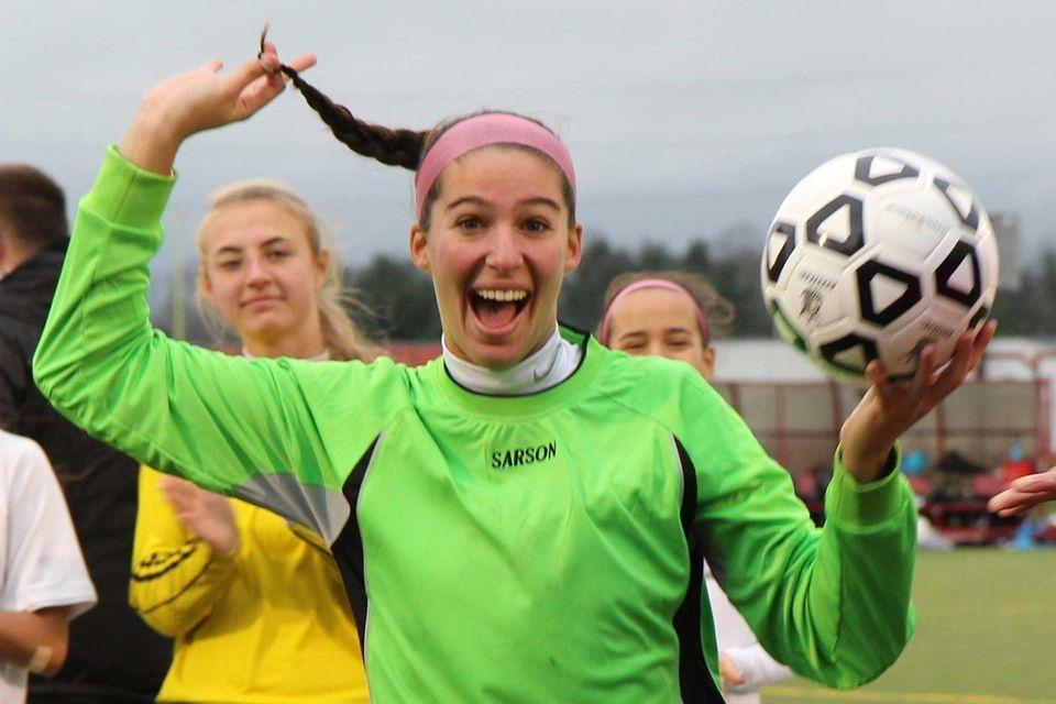Garden City goalie Taylor Carpentier collects her MVP