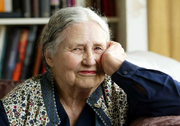 Writer Doris Lessing, 86 at her home in