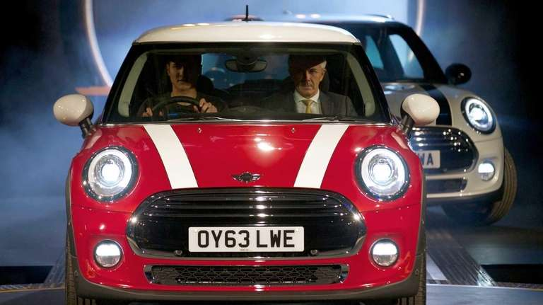The new Mini Cooper car is pictured during