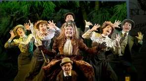 Tony winner Jefferson Mays, center, takes many roles