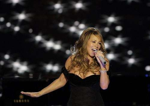Mariah Carey performs at the Neighborhood Inaugural Ball