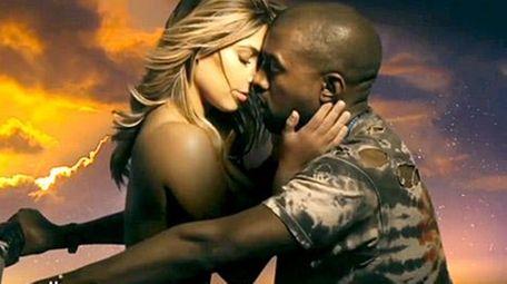 Kim Kardashian and Kanye West in his music