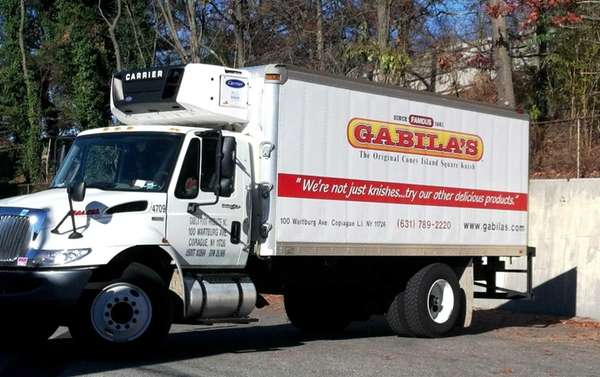 Gabila's knish truck, spotted in Huntington Station. (November