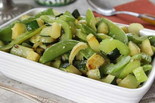 A green vegetable medley, which can be made
