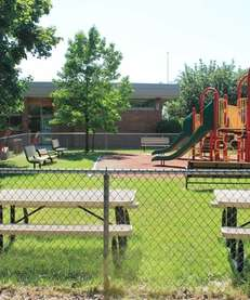 The Kings Park branch library playground on June
