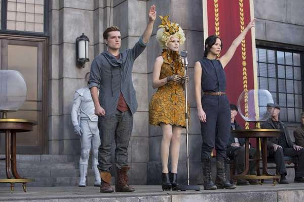 From left, Josh Hutcherson as Peeta Mellark, Elizabeth