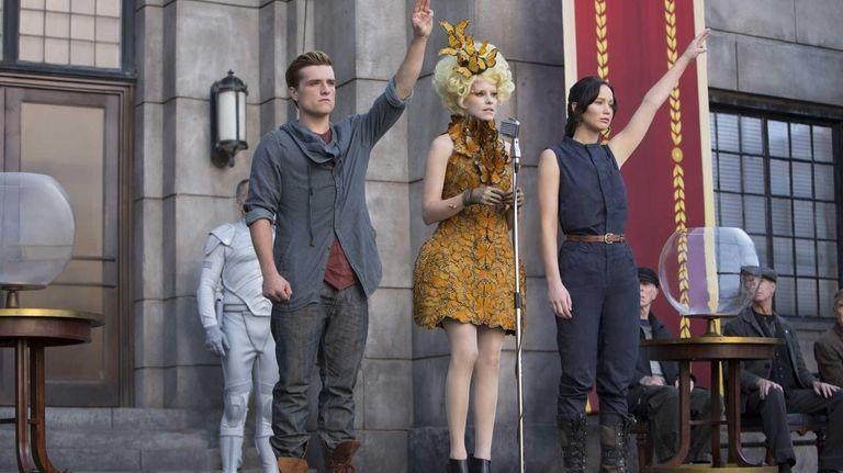 From left, Josh Hutcherson as Peeta Mellark, Elizabeth