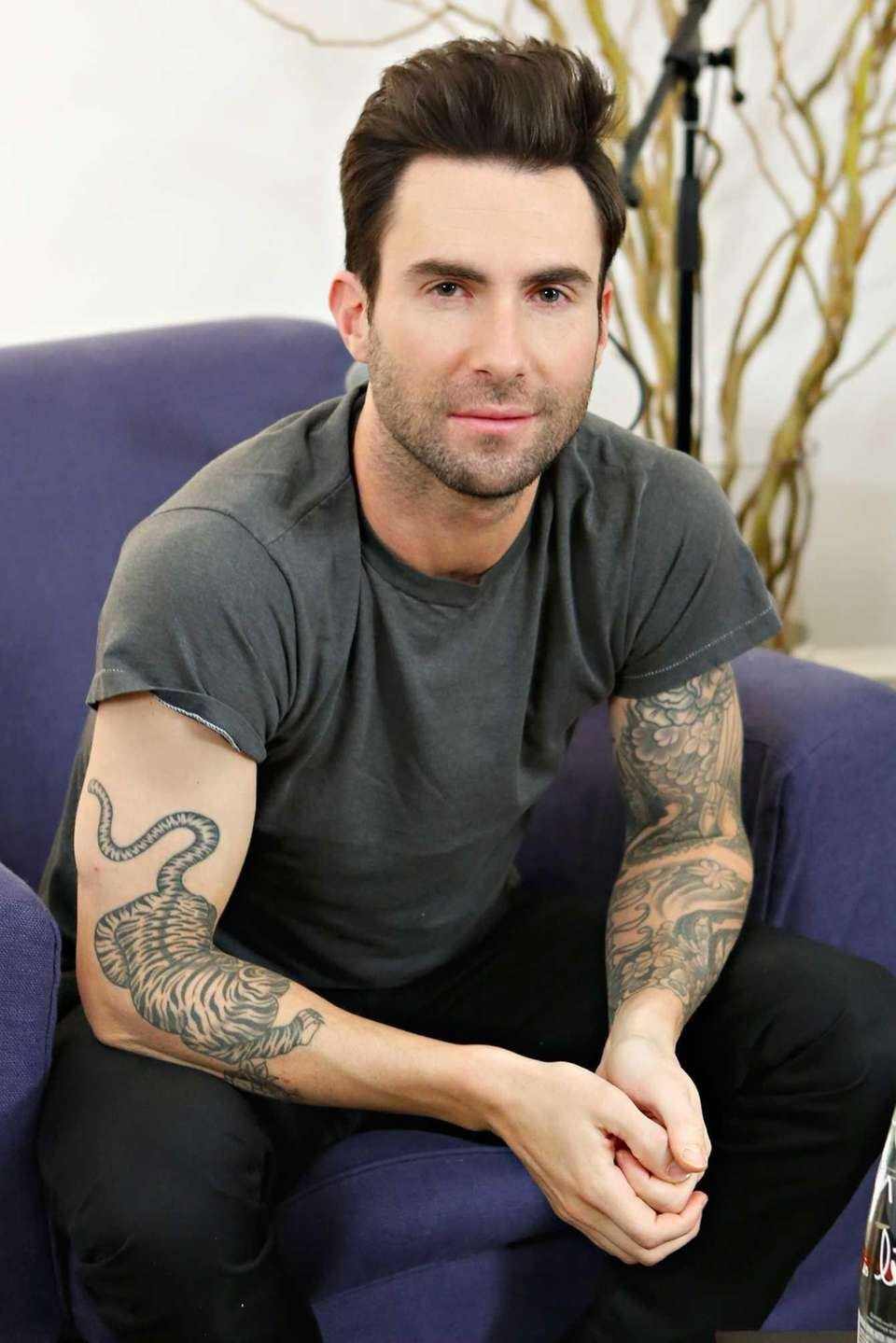 "Maroon 5 frontman and ""The Voice"" judge Adam"