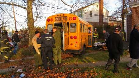 Five people, including two children, were injured Wednesday
