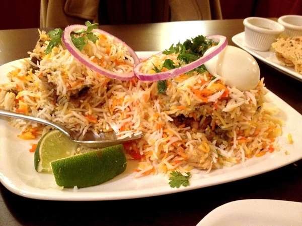 At Mirchi in Hicksville, Hyderbadi biryani is a