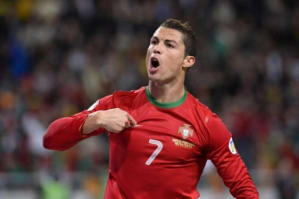 Portugal forward Cristiano Ronaldo celebrates after scoring the