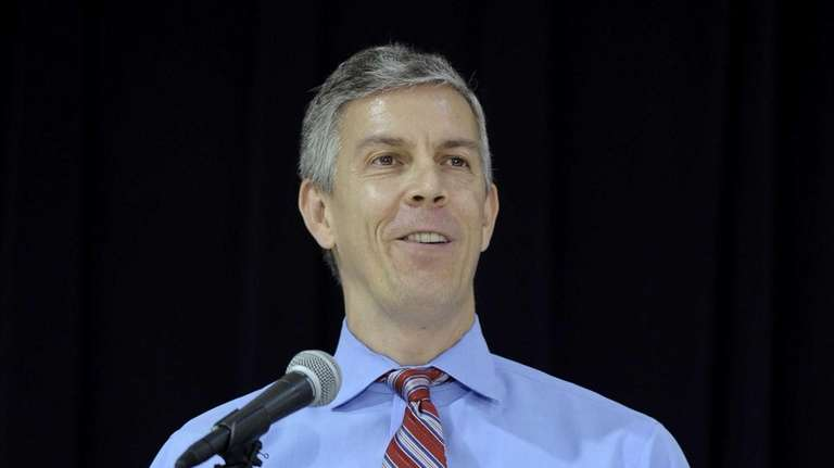 Education Secretary Arne Duncan speaks at Malcolm X