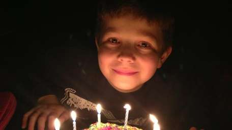 Harrison Kellogg McKenna celebrating his 10th birthday with