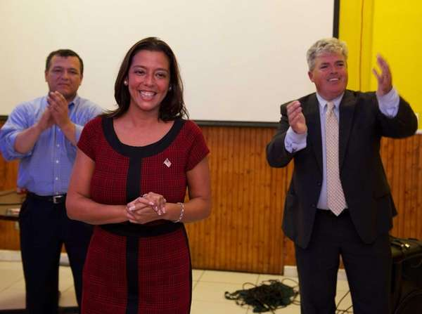 Monica Martinez at her primary victory party at