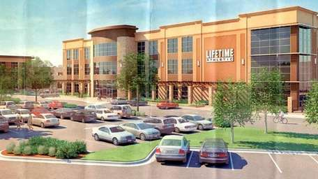 A rendering of the three-story fitness complex and