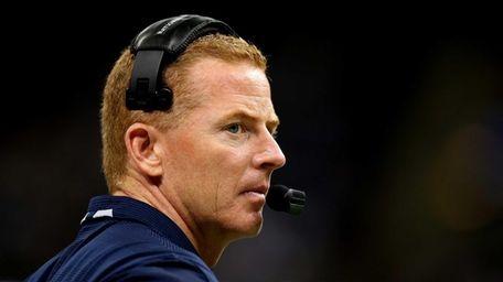 Dallas Cowboys head coach Jason Garrett looks on