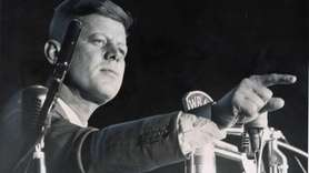 Sen. John F. Kennedy speaks at the Long