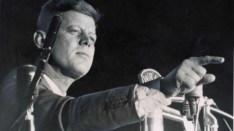Sen. John F. Kennedy speaks at the Long