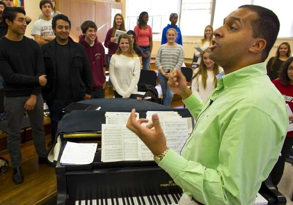 Edward Norris, director of choral music at Glenn
