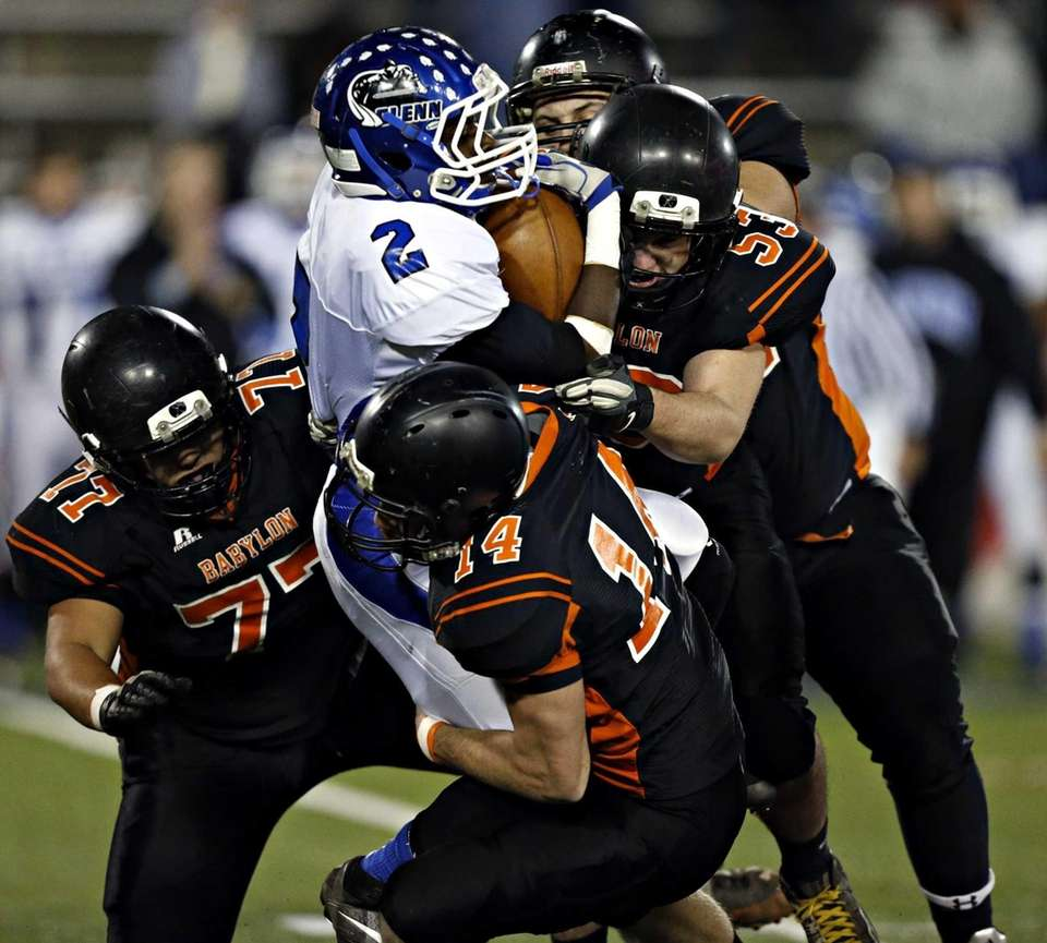 The Babylon defense smothers Glenn's Keeshawn Boodie for