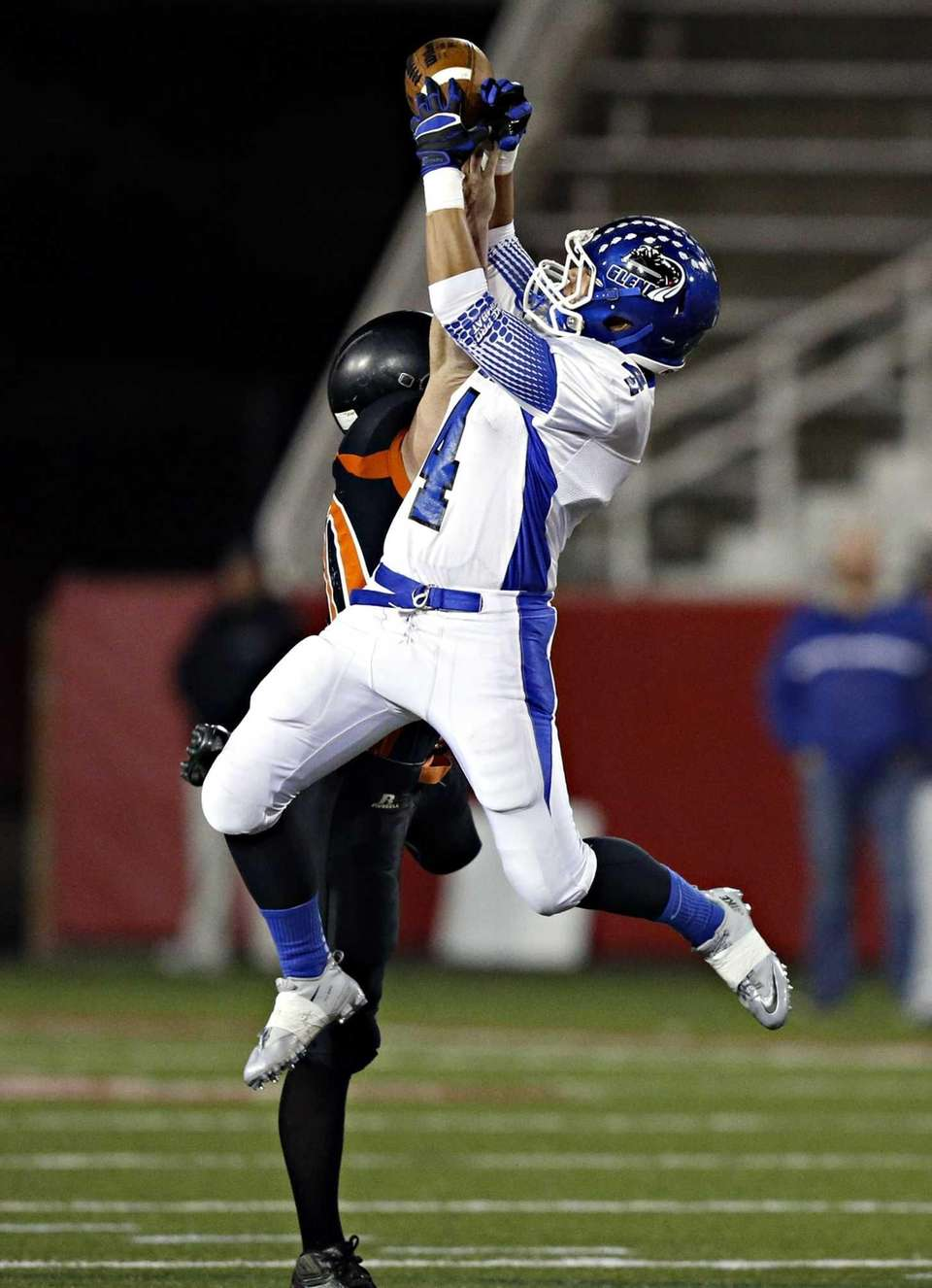 Glenn's David Wicks intercepts a pass intended for