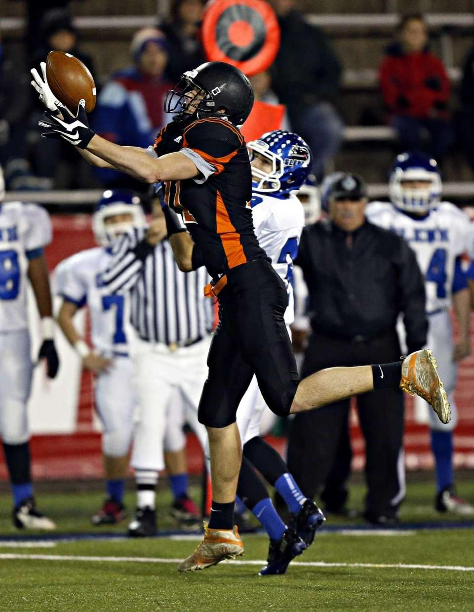 Babylon's Ray Wardell intercepts a pass in front