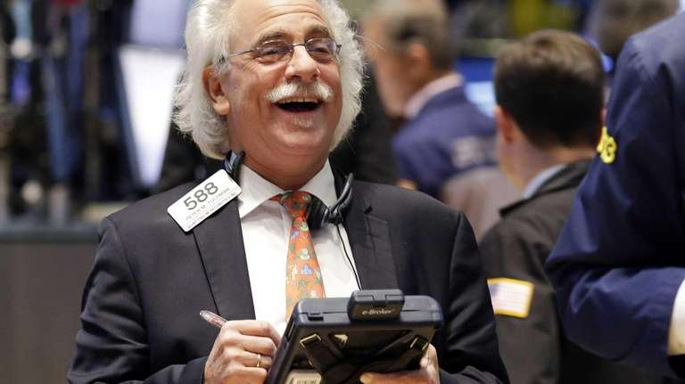 A trader on the floor of the New