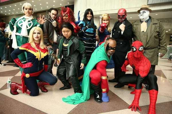 Cosplay fans attend the New York Comic Con
