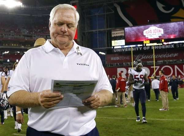 Houston Texans interim head coach Wade Phillips, who