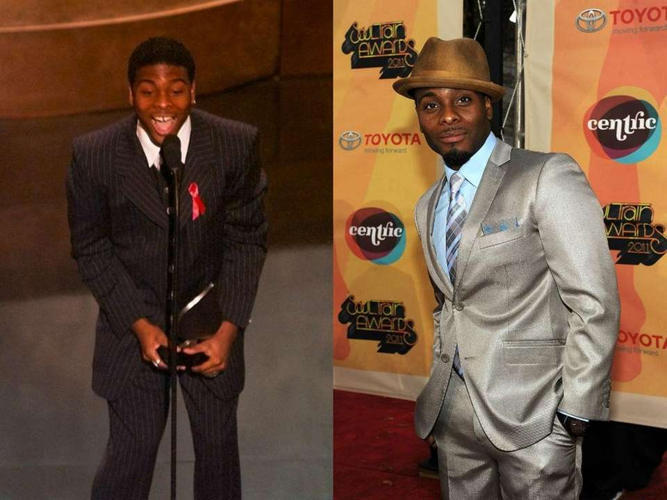 Actor Kel Mitchell reacts while accepting his award