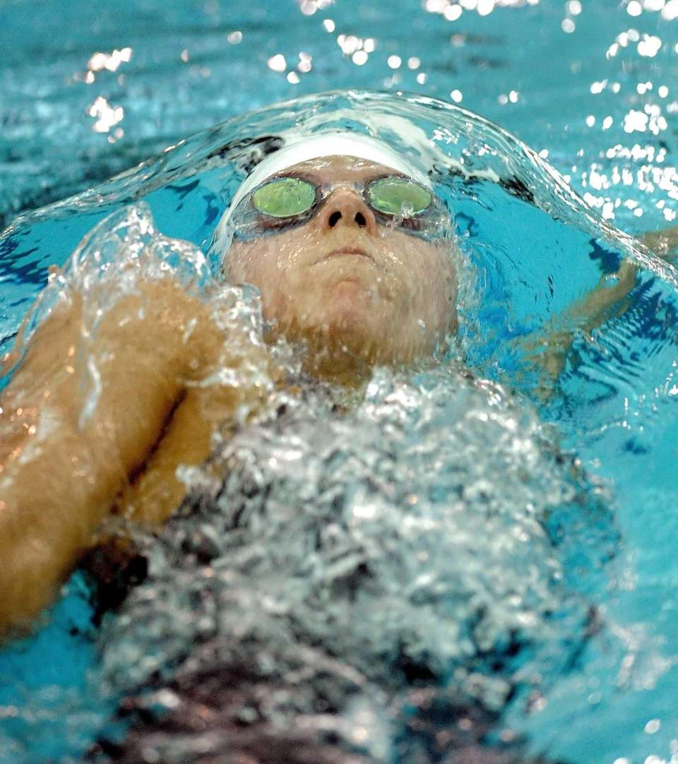 Half Hollow Hills' Shannon Drury swims in a