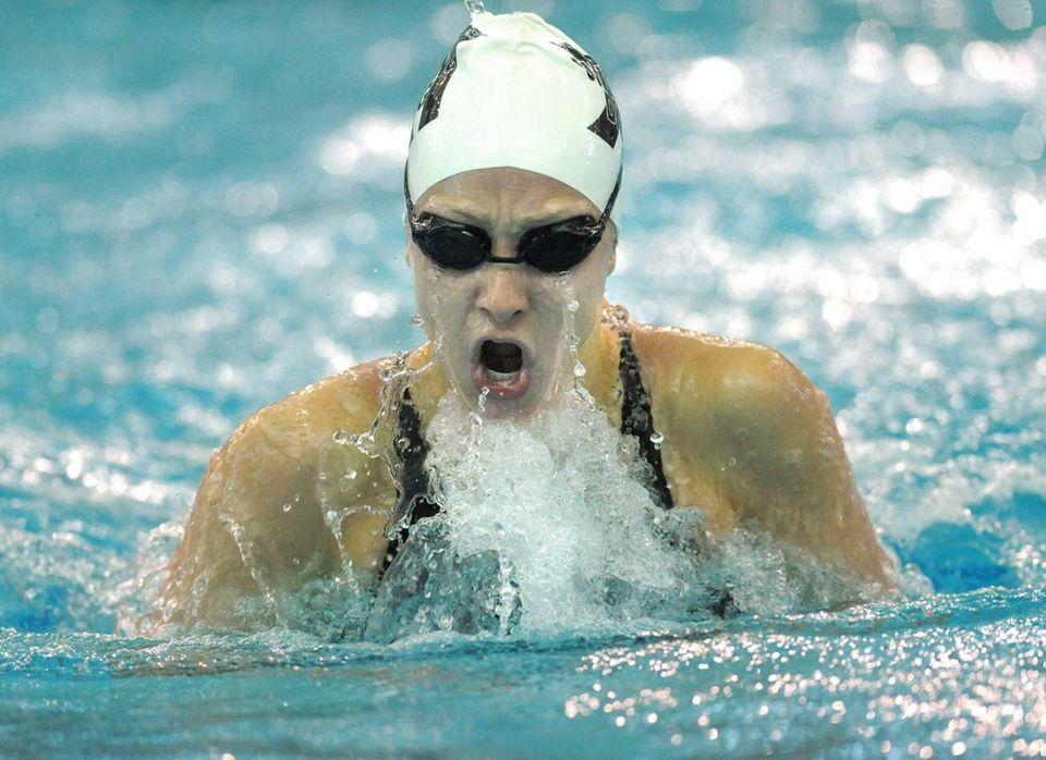 Northport's Nicole Papsco swims in a preliminary heat