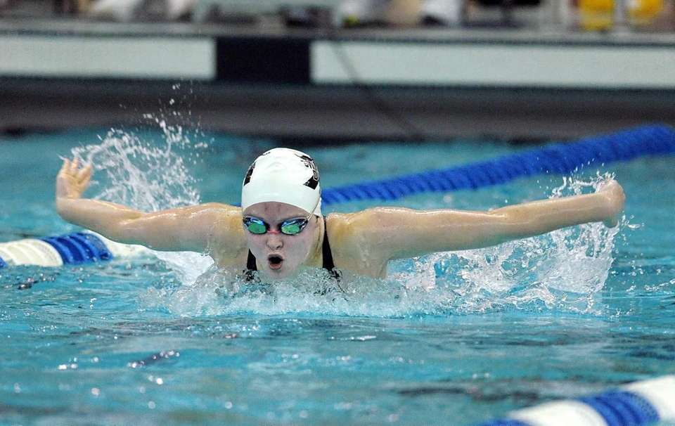 Ward Melville's Cassandra Willie swims in a preliminary