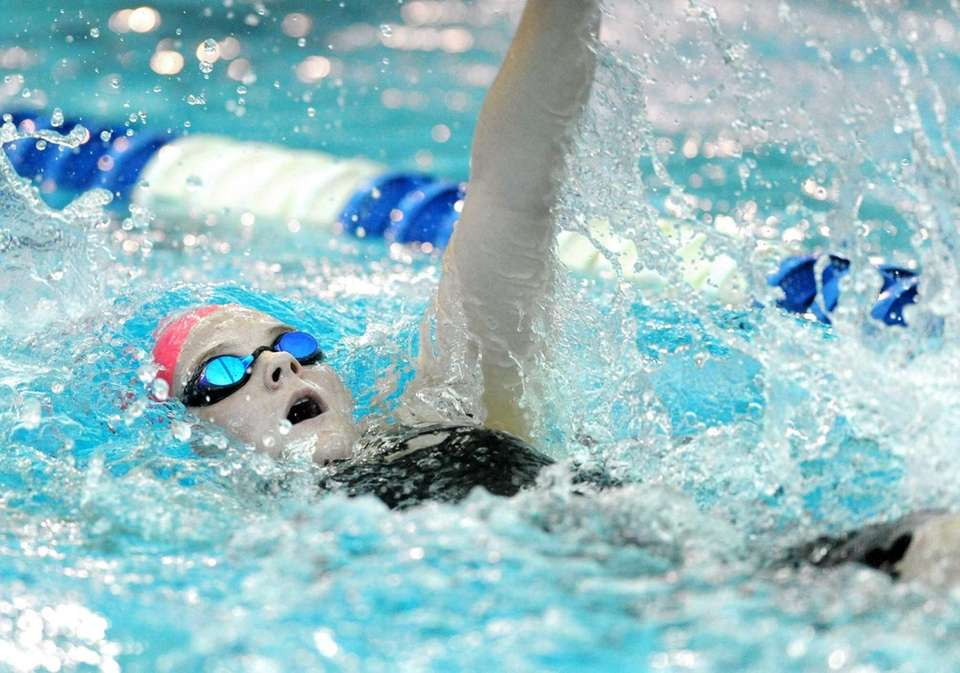 St. Anthony's Rachel Kuenzler swims in a preliminary