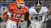Carey quarterback Ray Catapano scrambles out of the