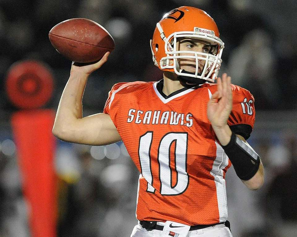 Carey quarterback Ray Catapano throws a pass during