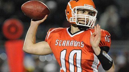 Carey quarterback Ray Catapano throws a pass during