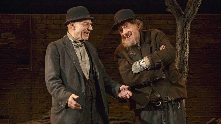 Patrick Stewart, left, and Ian McKellen in Samuel