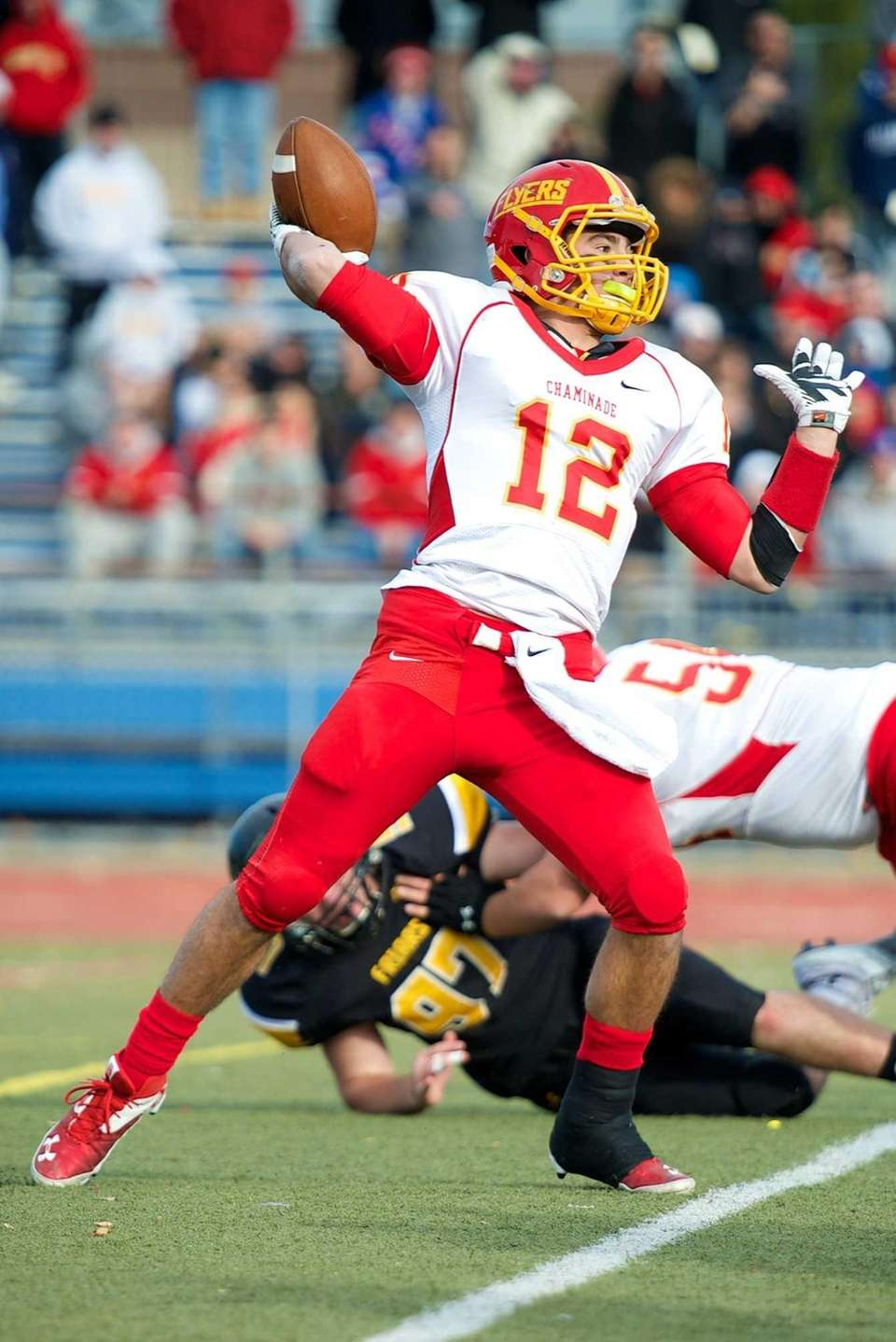 Chaminade quarterback Sean Cerrone attempts a pass against