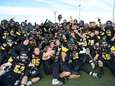 The St. Anthony's Friars celebrate their victory over
